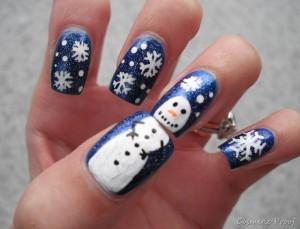 Sneeuwpop Nail Art